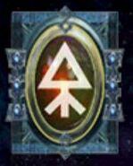 Simbolo eldar runa jinetes del viento
