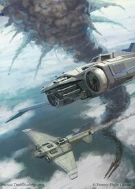 Thunderbolts en Combate Aeronaves Caos Armada Imperial Wikihammer