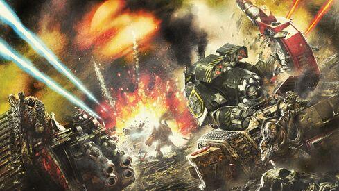Caos guerreros de hierro dreadnought hrend tallarn