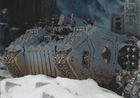 Land Raider Cruzado Lobos Espaciales 7ª Edición diorama