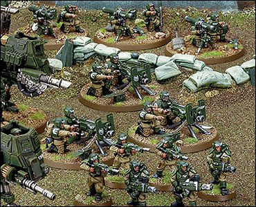 Miniatura guardia imperial armas pesadas