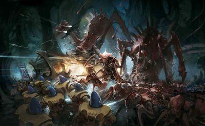 Eldar iyanden vs tiranidos kraken
