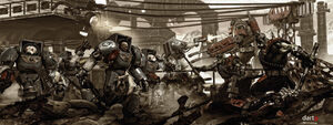 Ultramarines vs Orcs variation by DartP