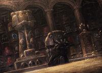 Guardián de la Muerte homenajeando