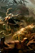 Eldar oscuro hemonculo dirigiendo creaciones batalla