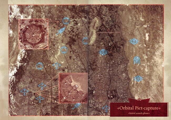 Posiciones Leales en Ciudad Coral Fase Inicial Atrocidad de Istvaan III