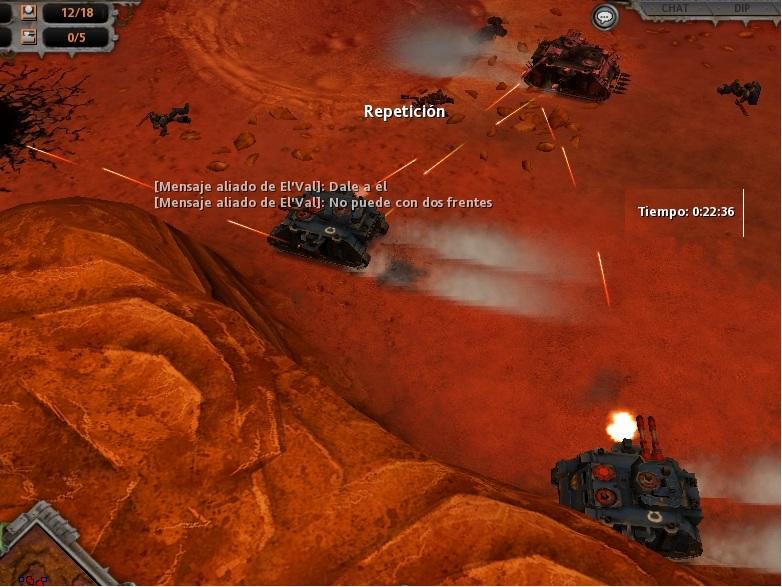 64 Chocan las avanzadillas cerca de la base traidora restante.