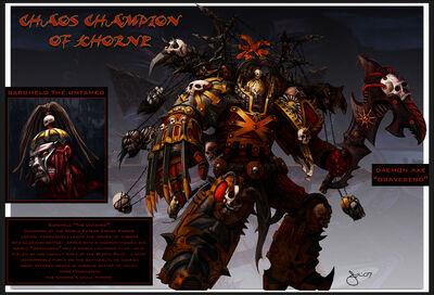 Bargheld el Indomado Campeón de Khorne Hacha Demoníaca Garra Relámpago Devoradores de Mundos