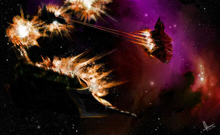 Enfrentamiento Flota Imperial Fuerzas del Caos Crucero Clase Carniceria Wikihammer