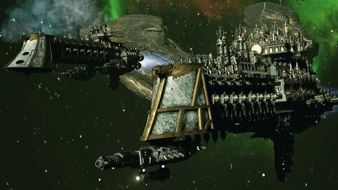 Flota naves patrulla espacio
