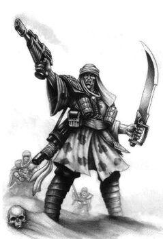 Guardia imperial incursores desierto Tallarn BN