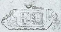 Land Raider Cruzado Templarios Negros 4ª Edición diseño
