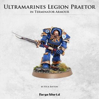 Pretor Tribuno Tartaros Legión Ultramarines Forge World miniatura