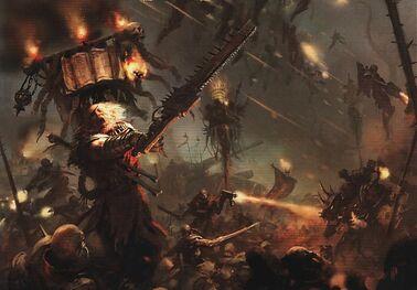 Sacerdotes Eclesiarquía Guardia Imperial vs Caos