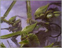 Escorpiones Asesinos Eldars Wayne England ilustración