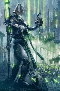 Lider Supremo Necron Nemesor Zahndrekh Conquista de Uttu Prime Wikihammer
