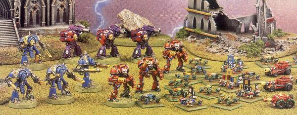 Ejército de Caballeros Imperiales vs Orkos