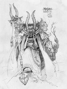 Ahriman Caos Mil Hijos David Waeselynck boceto
