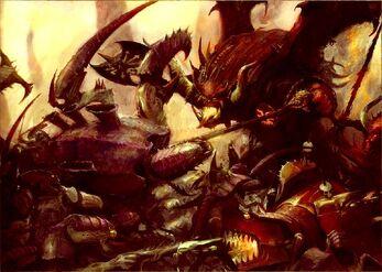 Batalla Tiránidos vs Demonios Khorne