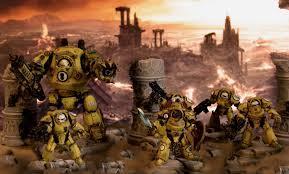 Diorama Exterminadores Tartaros Dreadnought Contemptor Puños Imperiales