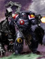 Marine sacerdote de hierro lobos espaciales