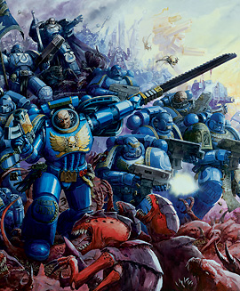 Marines ultramarines batalla macragge color