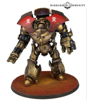 Dreadnought Pesado Telemon Custodes Forge World miniatura