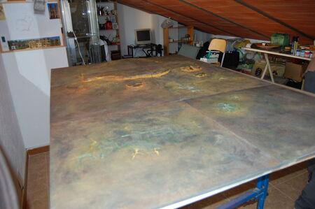 Pintura tablero modular 17