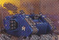Land Raider Cruzado Ultramarines 7ª Edición diorama