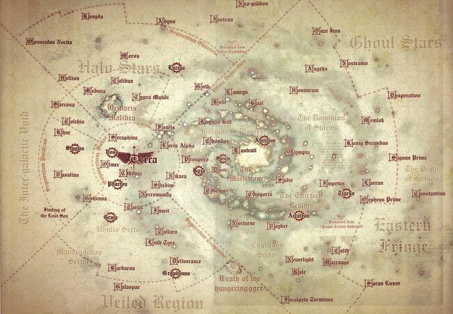 Mapa de la Galaxia en la Herejía de Horus