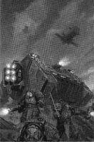 Land Raider Cruzado Ultramarines 5ª Edición ilustración