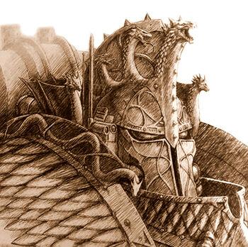 Retrato Alfarius Omegón Horus Heresy III Extermination