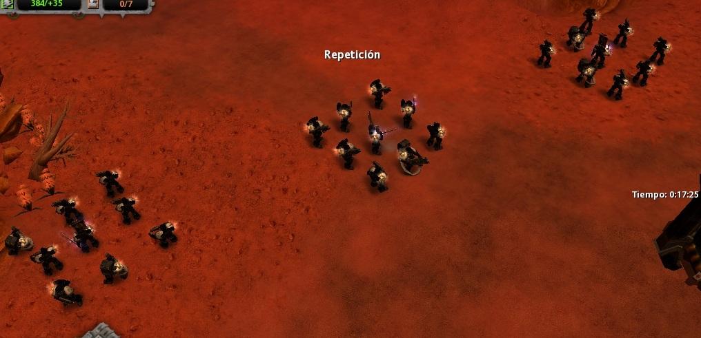 51 Los Templarios Negros establecen una linea defensiva, esperando que los traidores ataquen a los Ultramarines por la espalda.