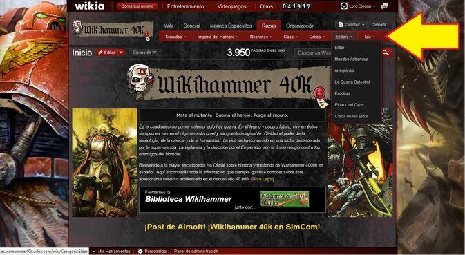 Barra Navegación Extendida Wikia Wikihammer Tutorial 2