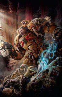 Marines puños imperiales capitan koorland surgimiento de la bestia wikihammer