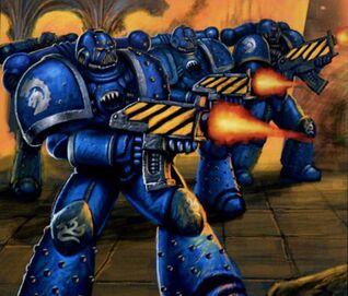Preherejia legion alfa marines batalla