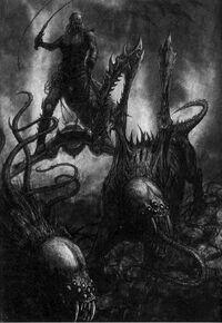 Eldar oscuro señor de las bestias y kymera BN