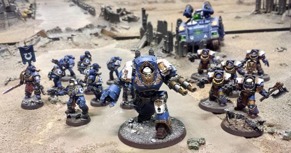Ejército Ultramarines Pretor Táctica Contemptor Cataphractii Whirlwind Scorpius