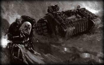 Pictocaptura Land Raider Cruzado Templarios Negros Cruzada de Jerulas