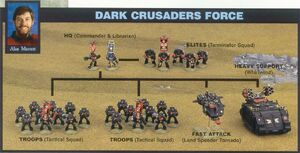 Ejército Cruzados Oscuros Marines Espaciales 3ª Edición diorama