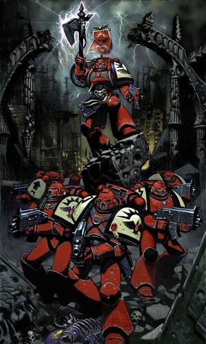Astartes Marines Espaciales Cuervos Sangrientos Escuadra Combate Wikihammer