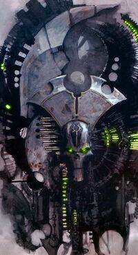 Lider Supremo Necron Triarca Fabart Wikihammer