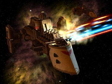 Flota Destructor Clase Cazador Andanada Lanzas Adeptus Astartes Wikihammer