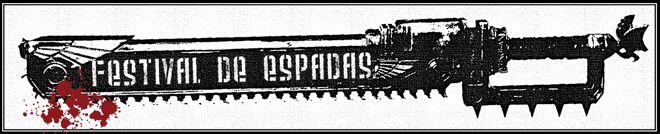 Logo Festival de Espadas Wikihammer espada sierra