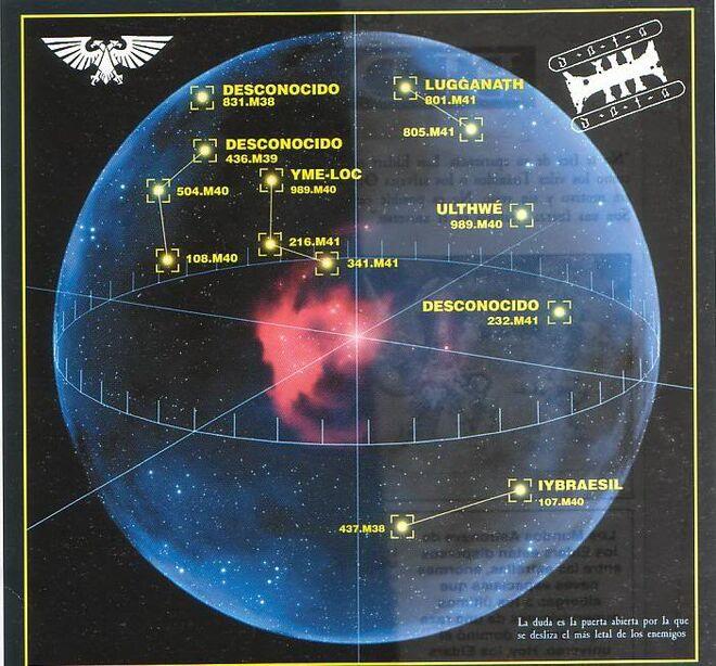 Eldar mundo astronave posición