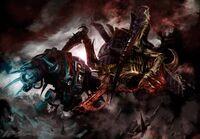 Marine dreadnought compañía muerte angeles sangrientos vs carnifex