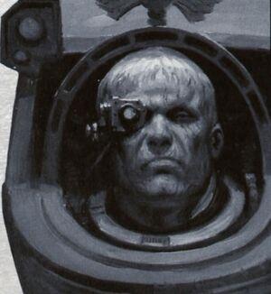 Retrato Sargento Exterminador Lorenzo Ángeles Sangrientos Space Hulk