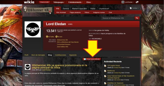 Hacer Crear un Blog Wikia wikihammer 3