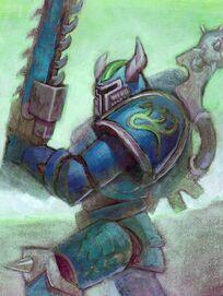 Caos legion alfa legionario casco astado