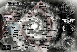 Mapa galaxia segmentums franja este